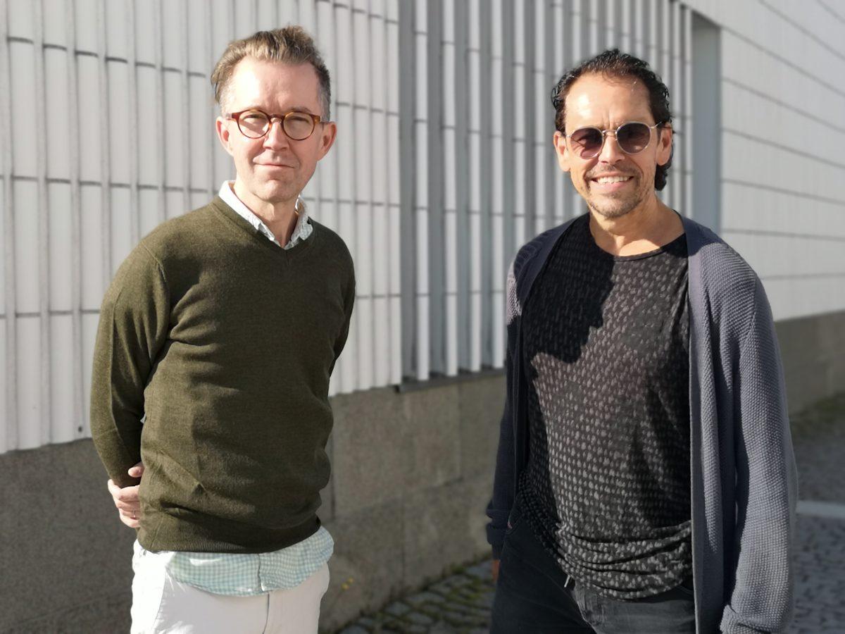 Evita-musikaalin ohjaaja Tuomas Parkkinen ja koreografi Jukka Haapalainen. Kuva: Anna Valtari