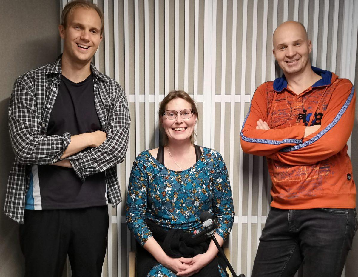 Julius Martikainen, Jelena Jokelin ja Marko Maunuksela.