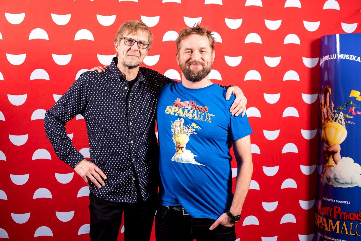 Spamalot. Mikko Koivusalo ja Mika Eirtovaara.