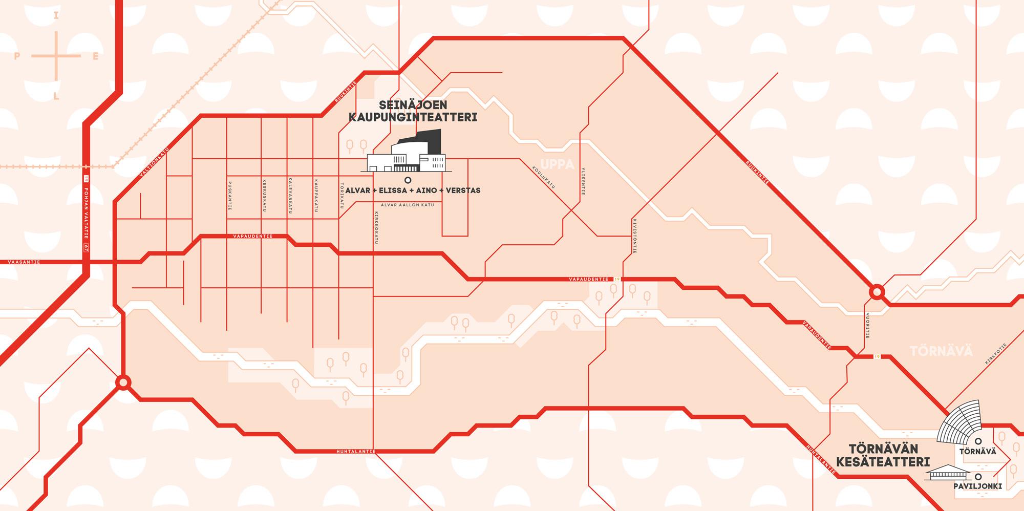 Seinäjoen kaupunginteatteri kartalla