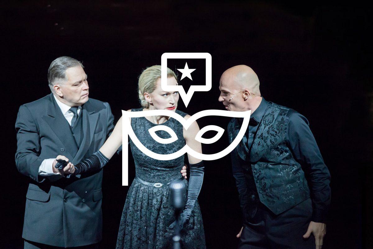 Evita. Esa Ahonen, Helena Rängman ja Marko Maunuksela.