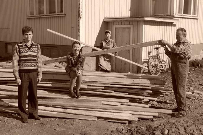 Väärä väri. Aki Haikonen, Mia Vuorela, Sari Jokelin ja Kari Manu.