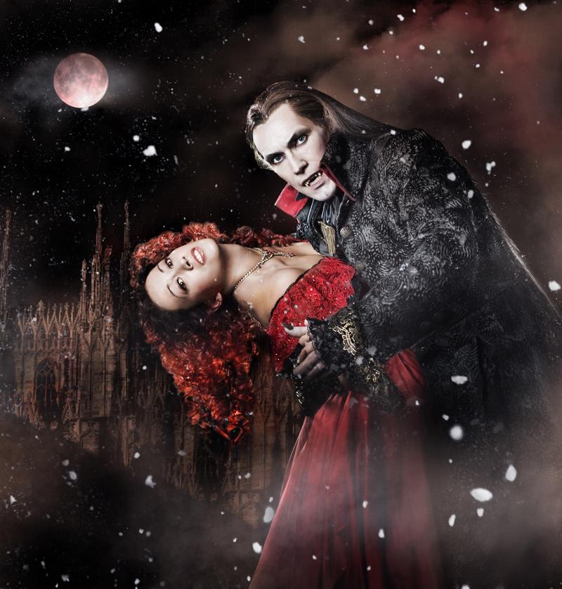 Vampyyrien tanssi. Jyri Lahtinen ja Raili Raitala.